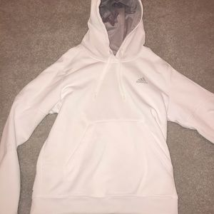 White Adidas Climawarm Hoodie